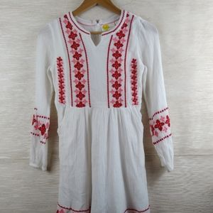 Boden White Embroidered Dress Size 11-12Y